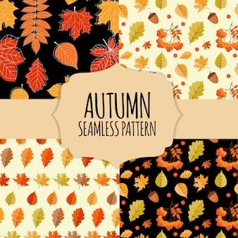 Collezione autunno seamless