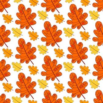 Stagione di caduta di autumn seamless pattern colorful leaves ornament
