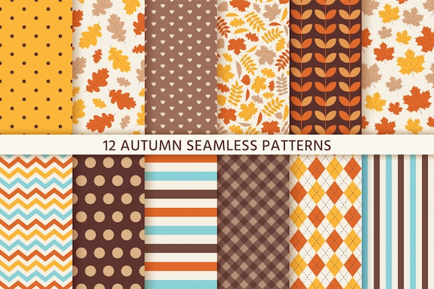 Autunno seamless pattern.