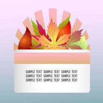Tema autunnale con foglie di autunno stagionali