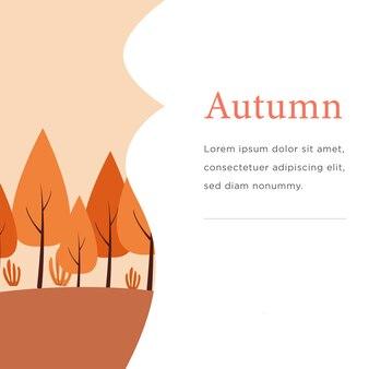 Tema dell'albero d'autunno con alimentazione