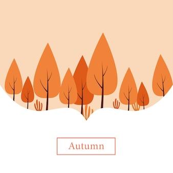 Tema degli alberi autunnali