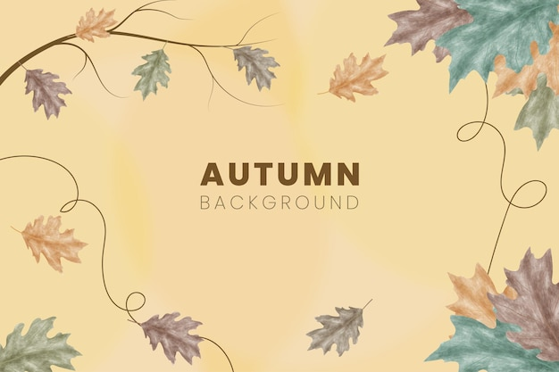 Sfondo stile acquerello autunno