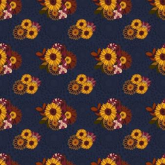 Autunno-fiori selvatici-giardino-seamless-pattern