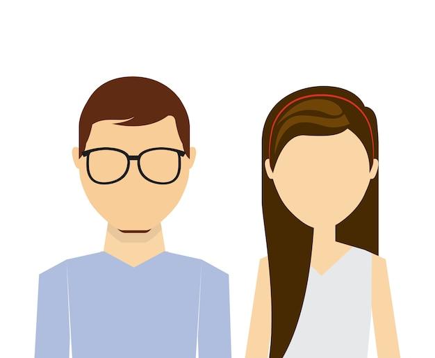 Disegno della persona di avatar