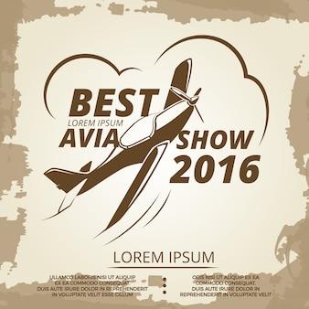 Avia mostra poster design vintage