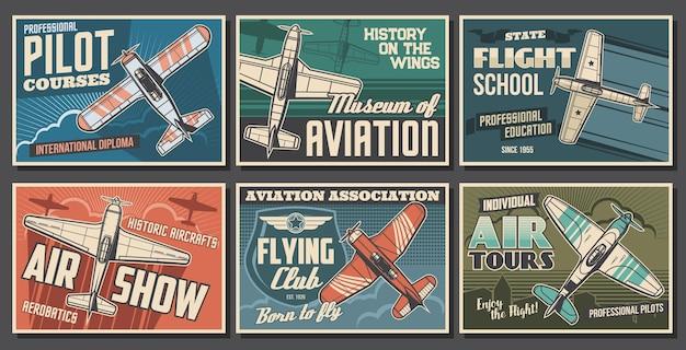 Manifesti di aeroplani dell'aviazione