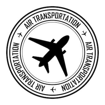 Icona, emblema o logo del timbro di trasporto aereo per la tua azienda. illustrazione vettoriale.