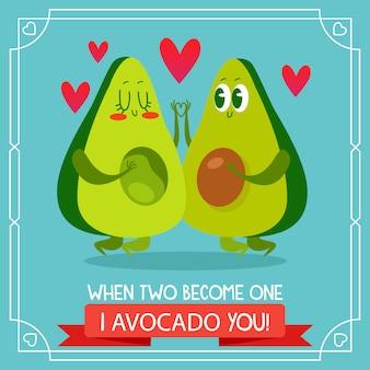 Sfondo avocado citando amore