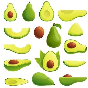 Set di icone di avocado