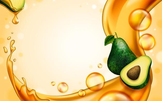 Sfondo tema olio di avocado per usi