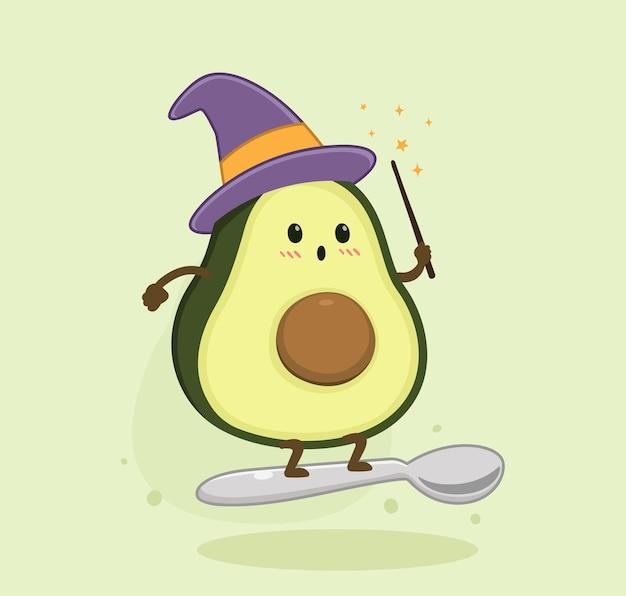 Fumetto della strega dell'avocado
