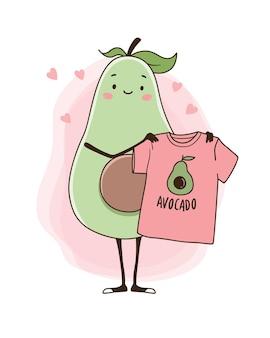 Avocado con una maglietta