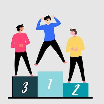 Vincitori del concorso a premi piedistallo