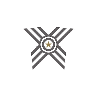 Premio medaglia nastro logo iniziali lettera o logo