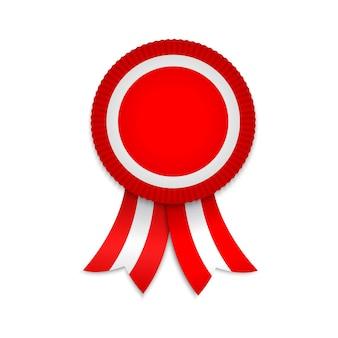 Medaglia premio con nastri. modello per badge vincitore