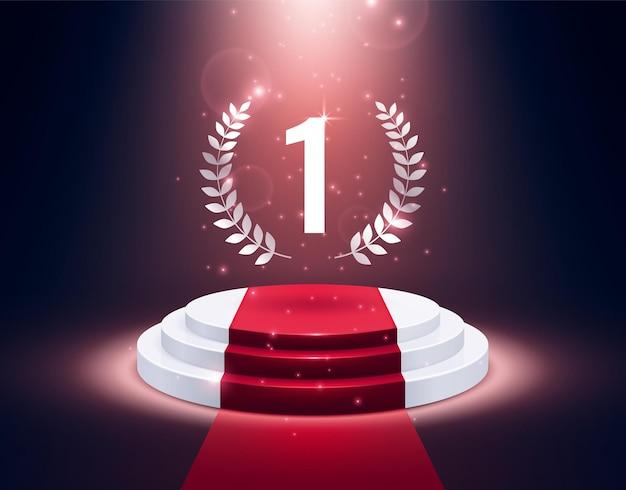 Piedistallo premio. podio di presentazione realistico, piattaforma 3d