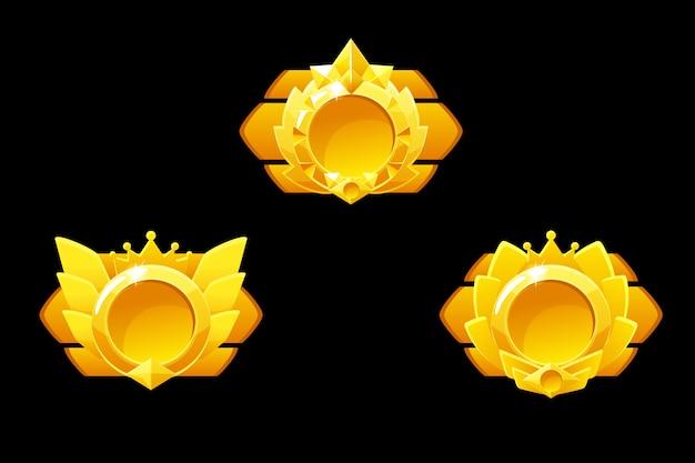 Premi le medaglie per il gioco gui