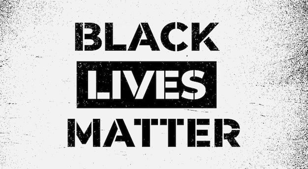 Campagna di sensibilizzazione contro la discriminazione razziale le vite nere contano il concetto problemi sociali del razzismo