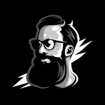 Uomo barba impressionante