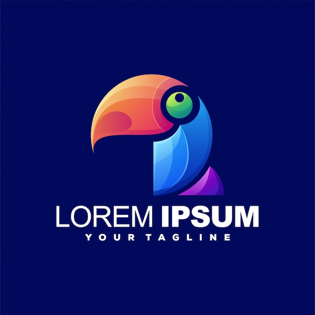 Fantastico logo color uccello