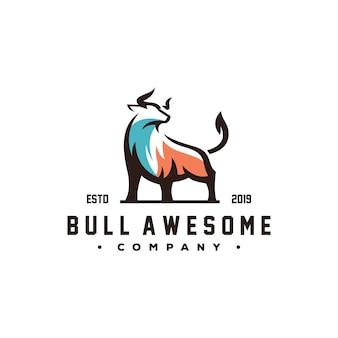 Vettore impressionante di progettazione di logo del toro