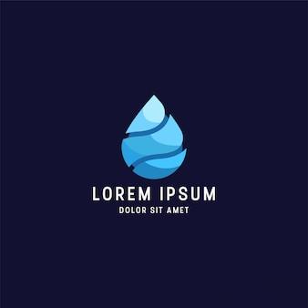 Modello di progettazione di logo di goccia di acqua colorata impressionante