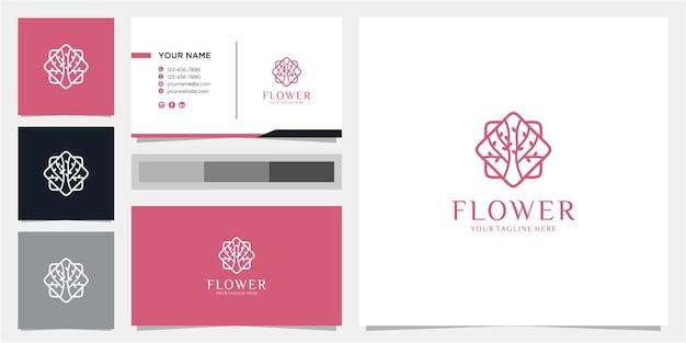 Fantastica ispirazione per il design del logo del fiore
