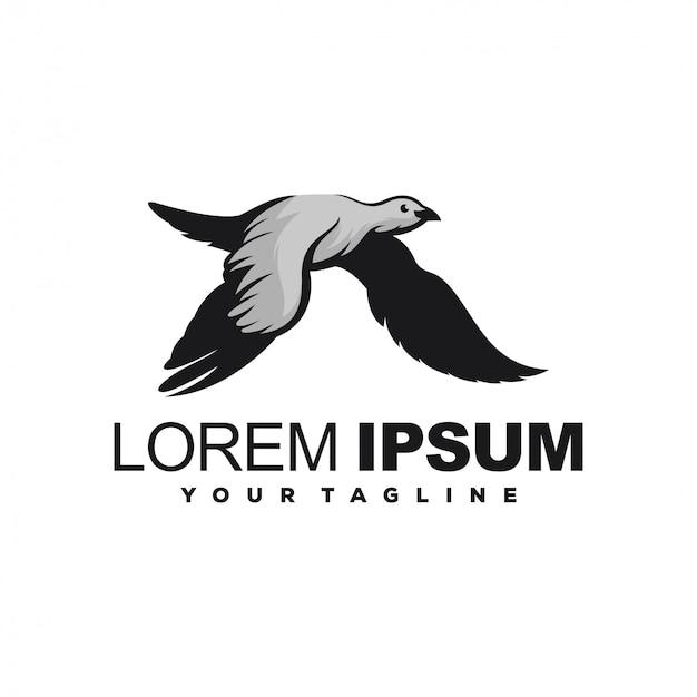 Fantastico design del logo uccello volante