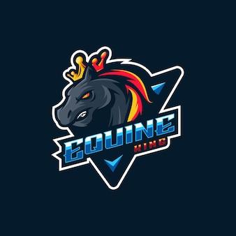 Fantastico logo del cavallo con vettore