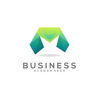 Logo gradiente m lettera fantastica