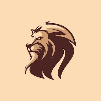 Fantastico design del logo del re leone con