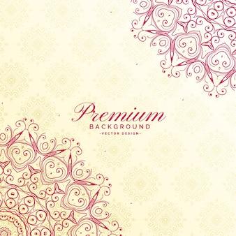 Impressionante sfondo premium decorazione mandala