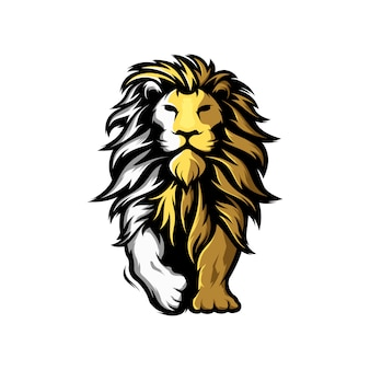 Fantastico logo del leone della mascotte