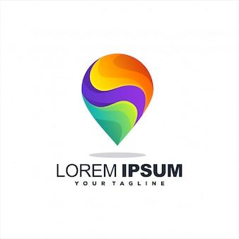 Fantastico logo con gradiente pin