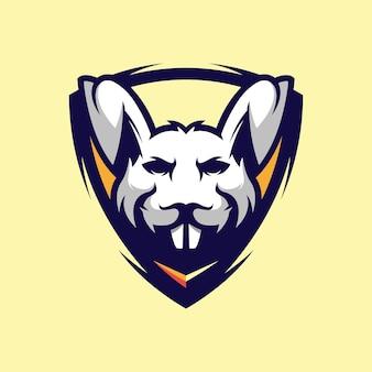 Fantastico design del logo del coniglio