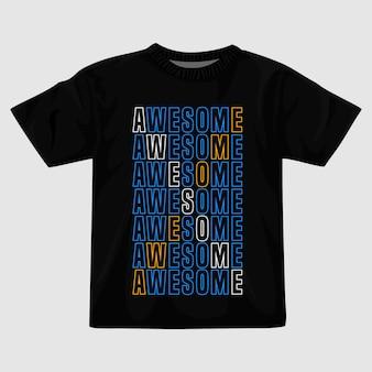 Fantastico design della maglietta