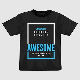 Fantastico design della maglietta vettoriale