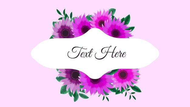 Fantastica etichetta vintage di cornici di fiori colorati in stile dettagliato per inviti di nozze di carte