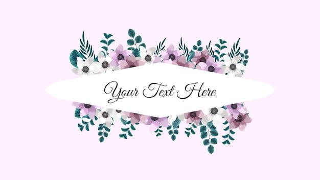 Fantastica etichetta vintage di cornici di fiori colorati in stile dettagliato per biglietti di auguri matrimonio