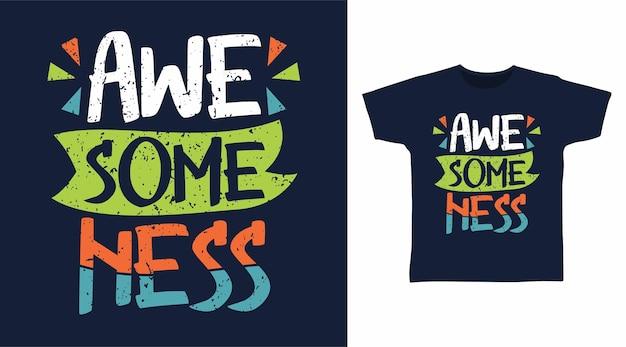 Disegni della maglietta di tipografia di awesomeness