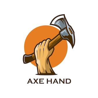 Legno tagliato a mano di ascia