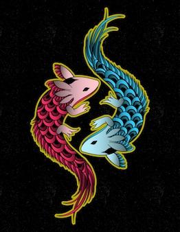 Axolotl arte azteca