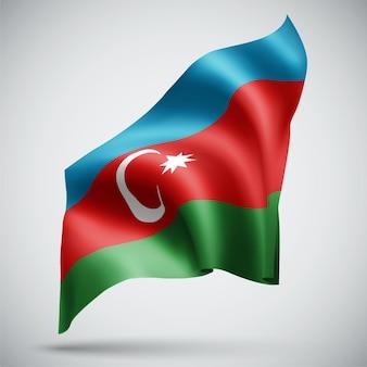 Azerbaigian, bandiera 3d isolata su sfondo bianco