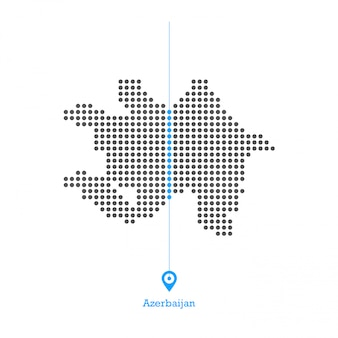 Azerbaijan doted map design vettoriale