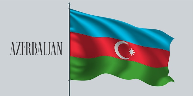 Bandiera sventolante dell'azerbaigian