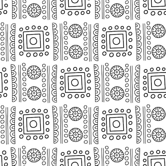 Modello senza cuciture azteco. può essere utilizzato nella progettazione di tessuti per la realizzazione di vestiti, accessori di carta decorativa, confezioni, web design di buste, ecc. campioni di motivo senza cuciture inclusi nel file.