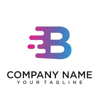 Logo della lettera b veloce