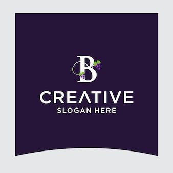 Design del logo dell'uva b