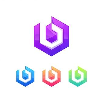 B lettera logo simbolo segno